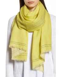 Eileen Fisher - Embroidered Wool Scarf - Lyst