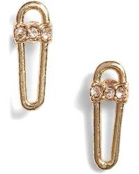 Rebecca Minkoff - Mini Safety Pin Earrings - Lyst