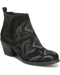 Fergie - Lexy Embroidered Ankle Boot - Lyst