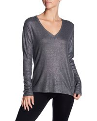 UGG - Essel Long Sleeve V-neck Hi-lo Shirt - Lyst