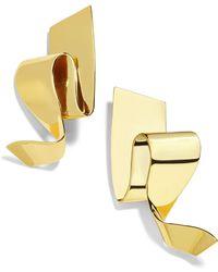BaubleBar - Nareh Metal Ribbon Drop Earrings - Lyst