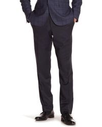 Ted Baker - Trim Fit Flat Front Trousers - Lyst