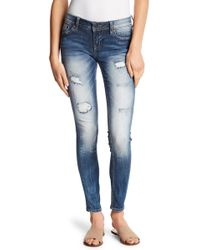Miss Me - Extreme Fade Skinny Jeans - Lyst