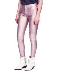 Free People - Metallic Faux Leather Pants - Lyst