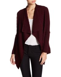 Chaus - Long Sleeve Textured Knit Cardigan - Lyst