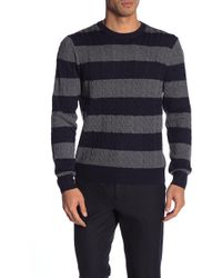 Brooks Brothers - Cable Knit Stripe Print Sweater - Lyst
