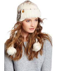 Muk Luks - Snowflake Faux Fur Pompom Trapper - Lyst