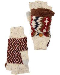Muk Luks - Americana Faux Fur Lined Pop-top Gloves - Lyst