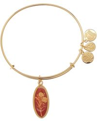 ALEX AND ANI - Birth Flower Expandable Charm Bangle - Lyst