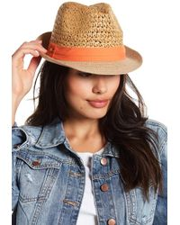 Steve Madden - Two-tone Banded Fedora - Lyst