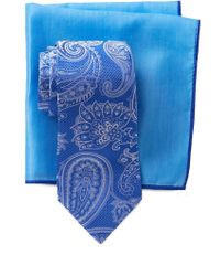 Ted Baker - Large Paisley Silk Tie & Pocket Square Set - Lyst