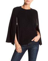 Michael Stars | Zip Detail Jumper Cape | Lyst