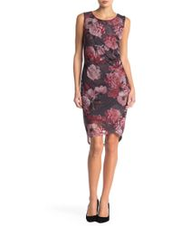 Love Scarlett - Floral Mesh Tank Dress - Lyst