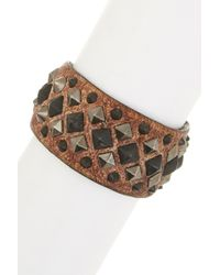 Frye - Deborah Leather Deco Cuff - Lyst