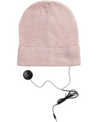 Rebecca Minkoff - Solid Knit Headphone Beanie - Lyst