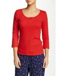 Jane & Bleecker New York - 3/4 Length Sleeve Sleep Shirt - Lyst