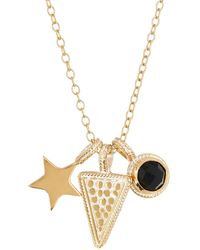 Anna Beck - 18k Gold Plated Sterling Silver Power Charm Necklace - Lyst
