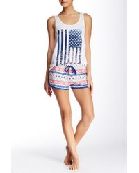 Cozy Zoe - Printed Drawstring Short - Lyst