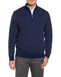 Bobby Jones - Diamond Quarter Zip Alpaca Jumper - Lyst