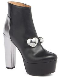 Love Moschino - Block Heel Platform Bootie - Lyst