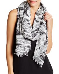 Joie - Coralina Ikat Frayed Scarf - Lyst