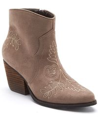 Matisse - Axis Suede Embroidered Bootie - Lyst