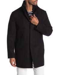 Cardinal Of Canada - Double Mock Wool Blend Neck Coat - Lyst