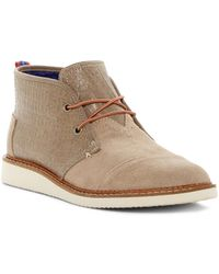 TOMS - Mateo Croc Embossed Leather Chukka Boot - Lyst