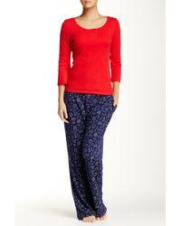 Jane & Bleecker New York - Printed Pyjama Pant - Lyst