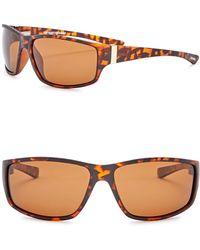 Steve Madden - 62mm Wrap Polarized Acetate Frame Sunglasses - Lyst
