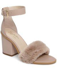 Seychelles - Faux Fur Ankle Strap Sandal - Lyst