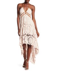 Sky - Nikar Crochet Lace Hi-lo Dress - Lyst