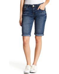 Democracy - Cuffed Denim Bermuda Shorts (petite) - Lyst