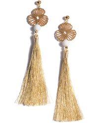 Shiraleah - Seminyak Floral Filigree Tassel Drop Earrings - Lyst