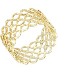 Bony Levy - 14k Yellow Gold Triple Row Circle Ring - Lyst