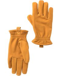 UGG - Suede Faux Fur Lined Gloves - Lyst