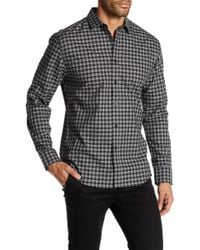 Vince Camuto - Check Spread Collar Shirt - Lyst