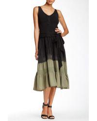 Luna Luz - Sleeveless Dip Dye Dress - Lyst