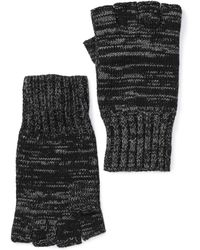 John Varvatos - Fingerless Knit Gloves - Lyst