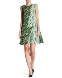 Vivienne Tam - Stripe Wave Flare Silk Dress - Lyst