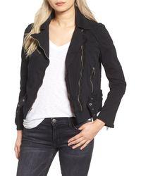 Mcguire - Stretch Twill & Faux Suede Moto Jacket - Lyst