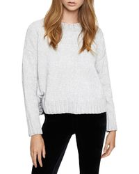 c15aba38994dad Lyst - Splendid Lyon Lace Cold Shoulder Pullover in Gray