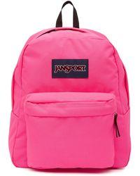 Jansport - Spring Break Ultra Pink Neon Backpack - Lyst