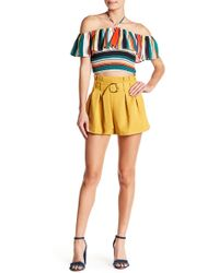 Jealous Tomato - Belted Box Pleated Shorts - Lyst