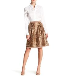 Basler - Embroidered Overlay Skirt - Lyst