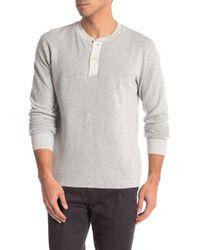 Grayers - Windsor Double Cloth Henley - Lyst