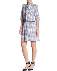 Vivienne Tam - Printed Ruffle Dress - Lyst