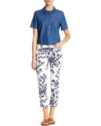 Philosophy Apparel - Printed Woven Ankle Jean (petite) - Lyst