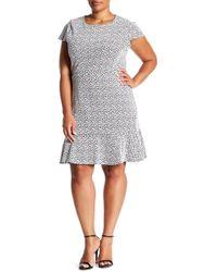 Michael Kors - Jacquard Flounce Dress (plus Size) - Lyst