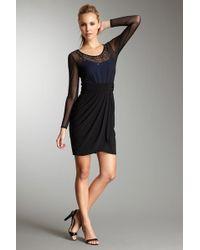 Decode 1.8 Long Sleeve Mesh Cocktail Dress - Black
